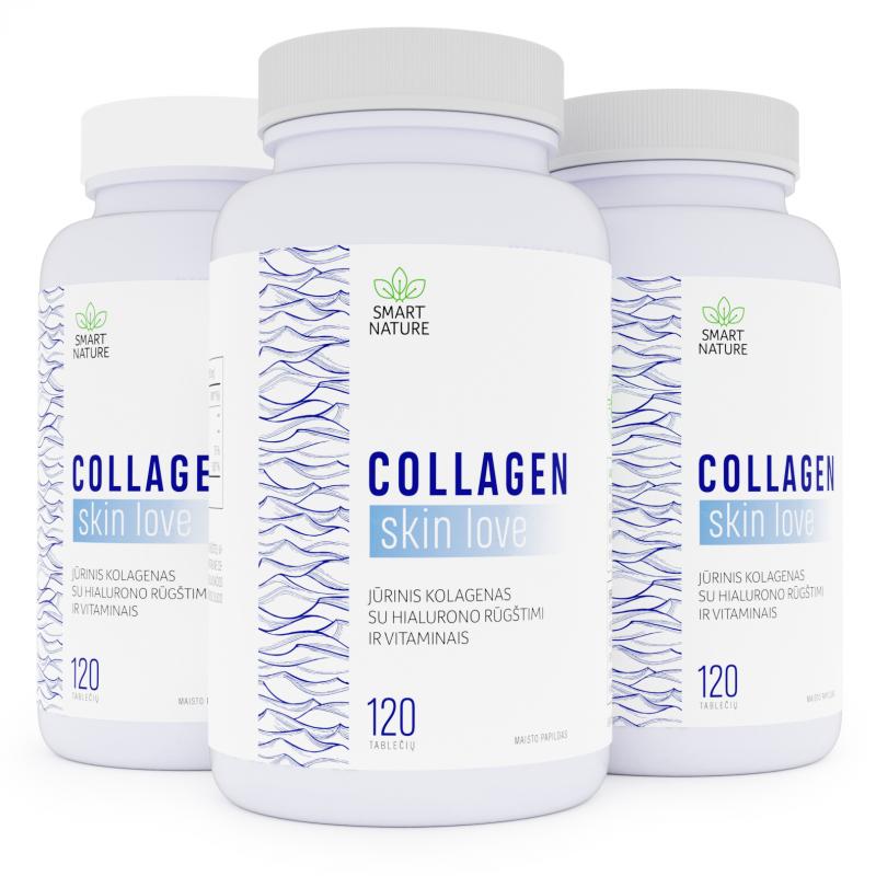 Collagen Skin Love - jūrinis kolagenas su hialiurono rūgštimi ir grožio vitaminais