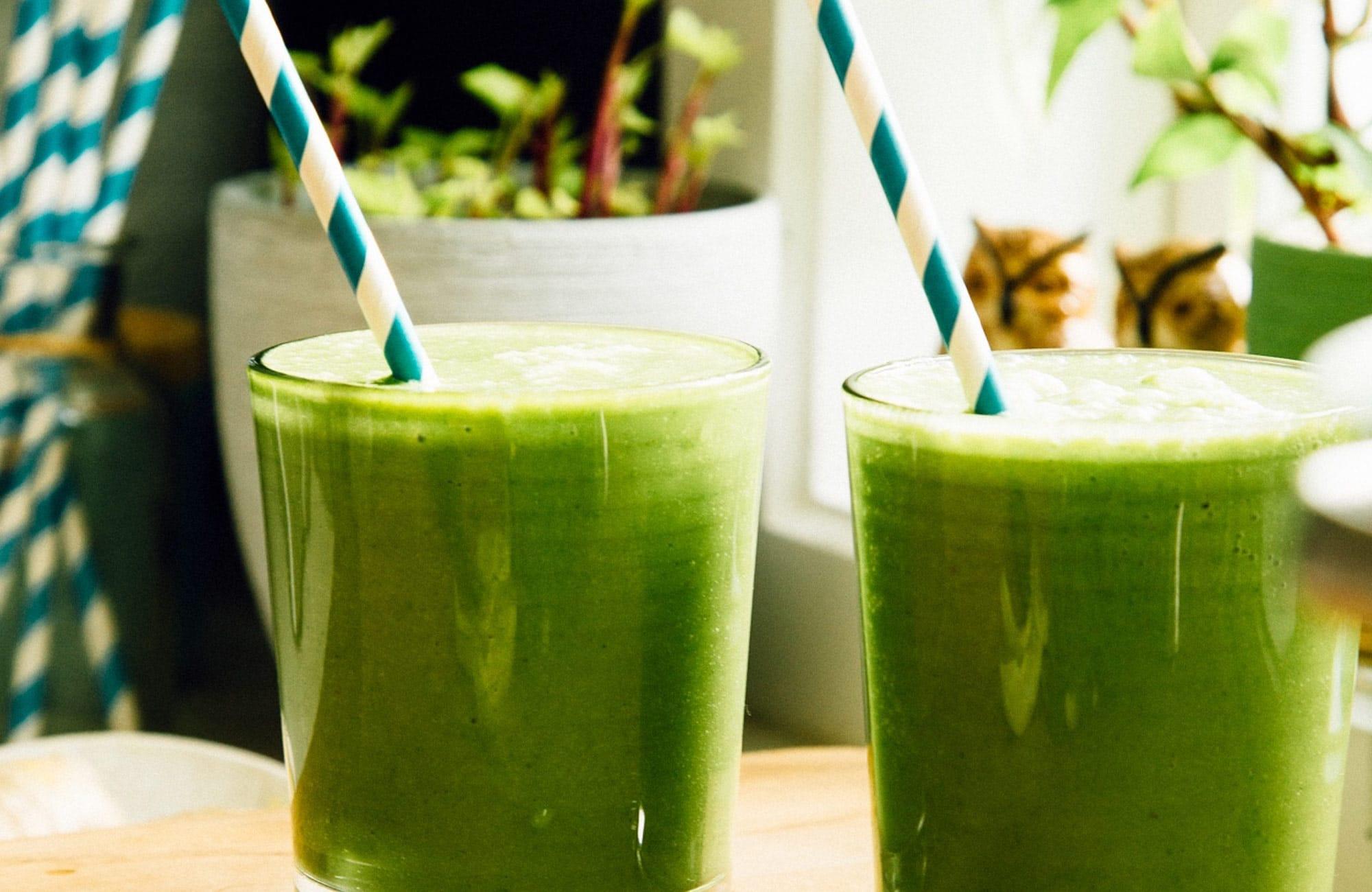 Pavasarinis žaliasis kokteilis