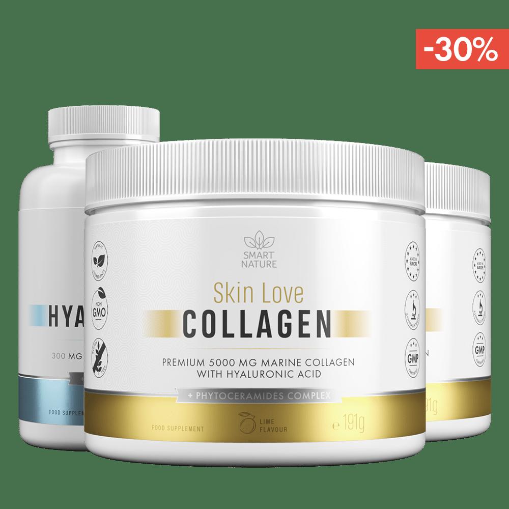 Kolagenas odai SKIN LOVE Collagen ir Hialurono rūgštis   Smart Nature
