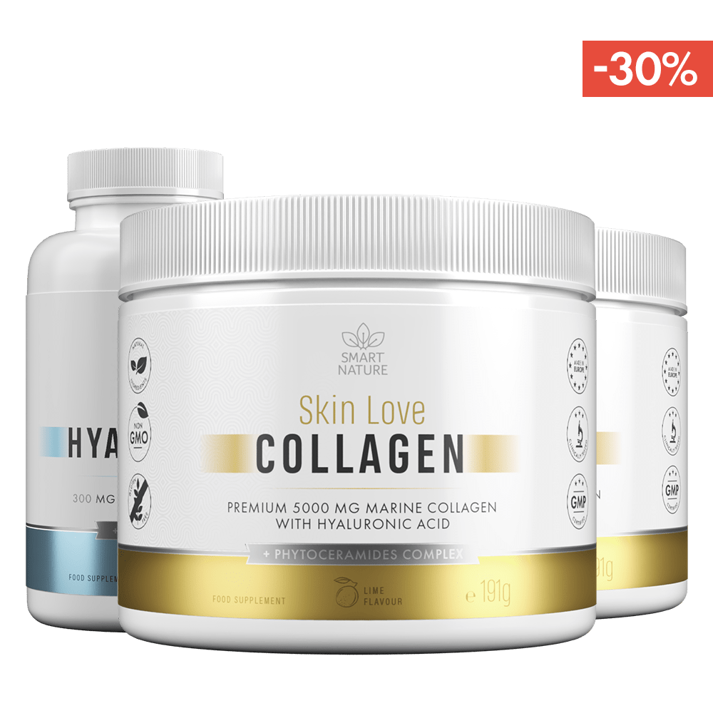 Kolagenas odai SKIN LOVE Collagen ir Hialurono rūgštis | Smart Nature