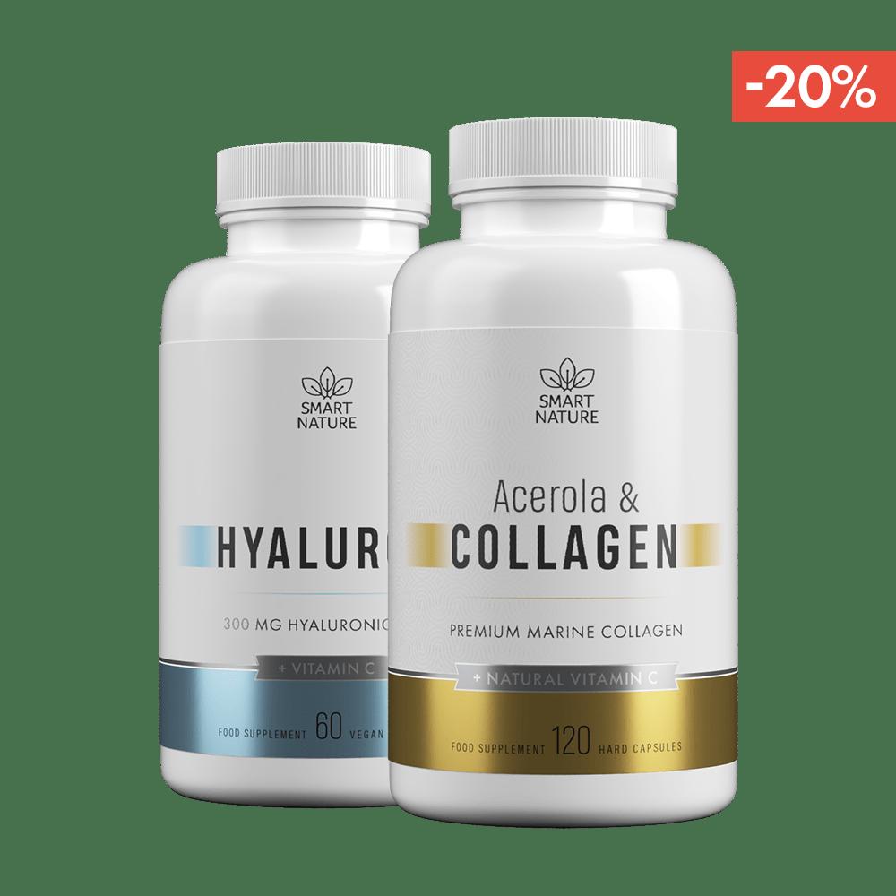 Acerola ir kolagenas ir geriama hialurono rūgštis su vitaminu C | Smart Nature