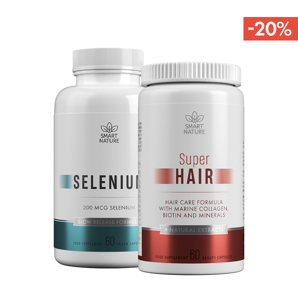 Vitaminai plaukams SUPER HAIR ir selenas | Smart Nature