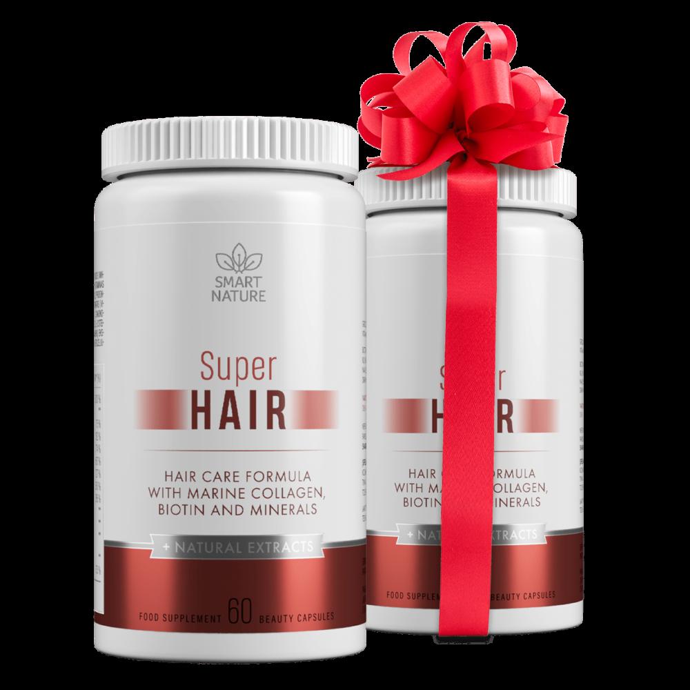 Vitaminai plaukams SUPER HAIR | Smart Nature