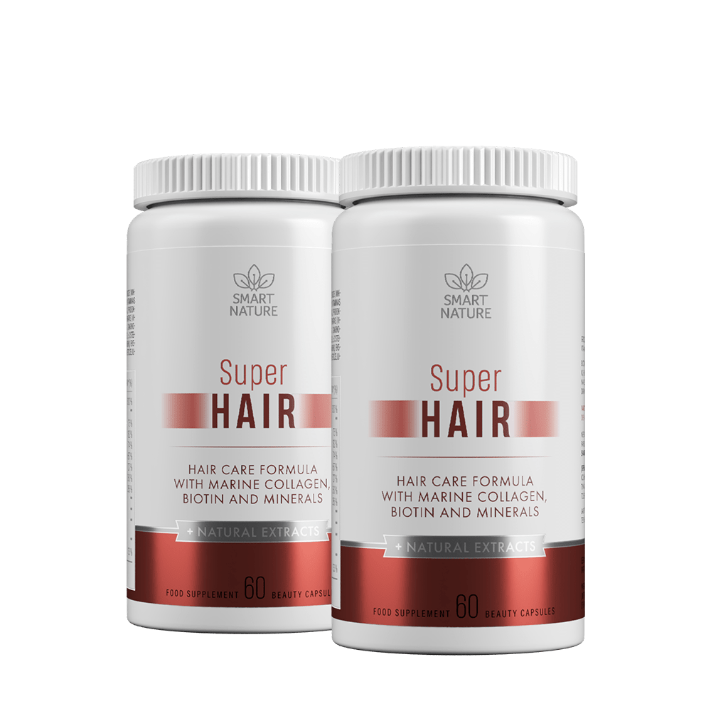 Vitaminai plaukams SUPER HAIR   Smart Nature